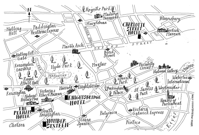 Firmdale Hotels Location Map