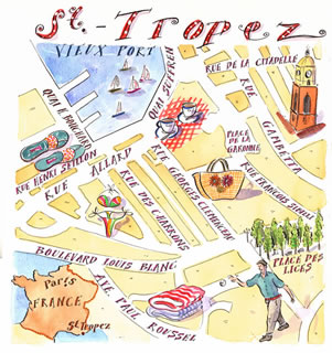 St Tropez ,France-Shopping Map